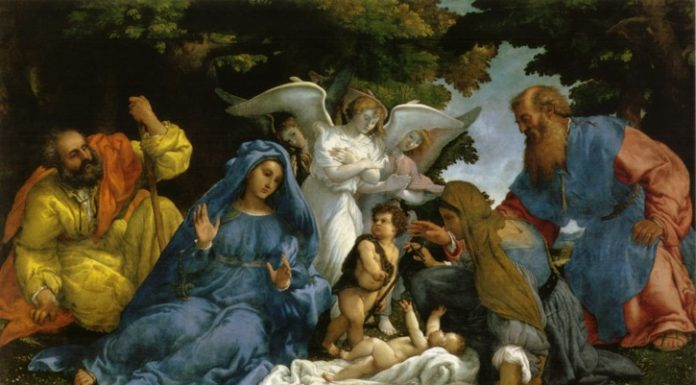 sacra Famiglia Louvre